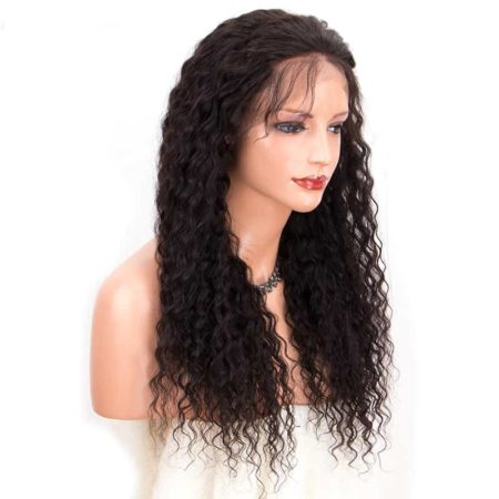 Malaysian Curly Full Lace Wigs Glueless Hair Pre Plucked Bleached Knots (4)