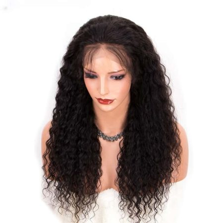 Malaysian Curly Full Lace Wigs Glueless Hair Pre Plucked Bleached Knots (5)