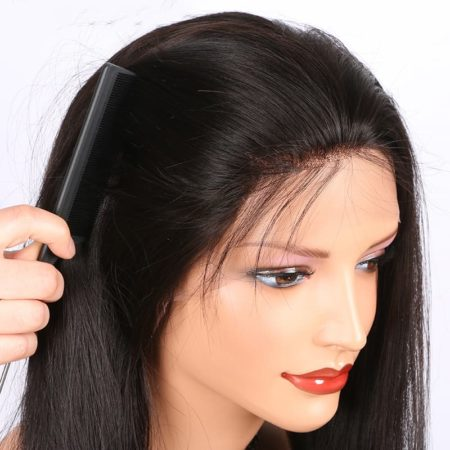 Malaysian Full Lace Human Hair Wigs Straight Natural Hairline With Baby Hair (3)