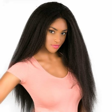Malaysian Italian Yaki Full Lace Human Kinky Straight Hair Wigs For Black Women (5)