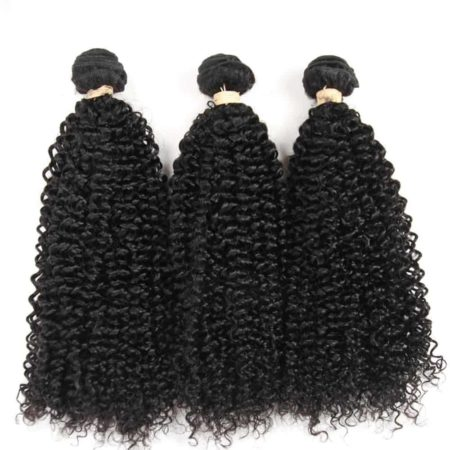 Malaysian Kinky Curly 3 Bundles With Full Frontal Weave Closure (6)
