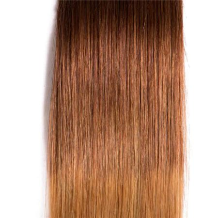 Malaysian Ombre Straight Hair Bundles With Closure T1B 4 27 Color (2)
