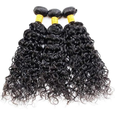 Malaysian Water Wave 3 Bundles With Frontal Closure Wet And Wavy Hair (5)