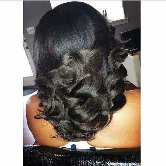 Medium length beautiful curls
