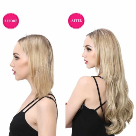 Natural Hair U Part Half Wig Synthetic Clip in Hair 22 Inch (6)