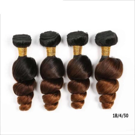 Ombre Brazilian Loose Wave 10-26inch Remy Hair 3&4 Bundles 1B 30&1B 27 Color With 1B 4 30&1B 4 27 (1)