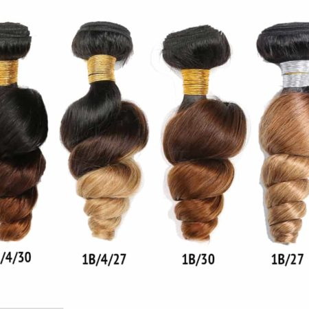Ombre Brazilian Loose Wave 10-26inch Remy Hair 3&4 Bundles 1B 30&1B 27 Color With 1B 4 30&1B 4 27 (3)