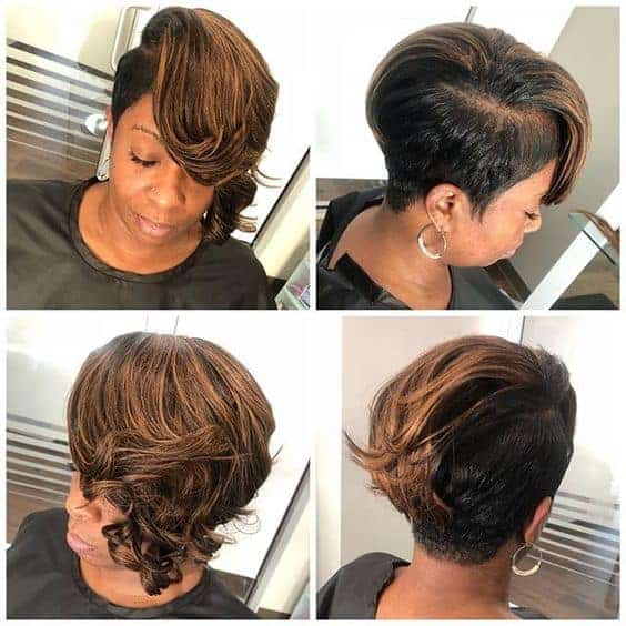Partial sew in with an undercut