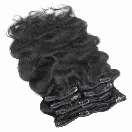 Peruvian Clip In Hair Extensions Body Wave 7 Pieces 120g set Natural Color (3)
