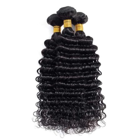 Peruvian Human Hair Bundles Deep Wave Hair Bundles With 4x4 Lace Closure (6)