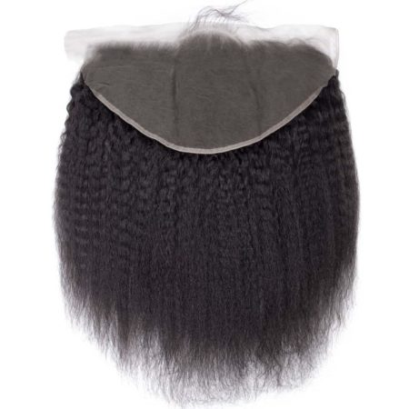Peruvian Kinky Straight 150% Density 13X6 Lace Frontal Hair With Baby Hair (2)