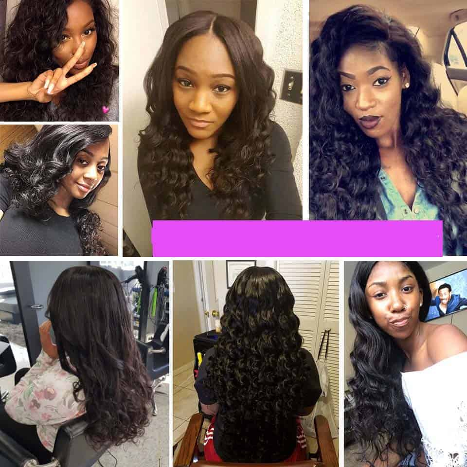 Peruvian Loose Curl Bundles, Human Peruvian Loose Curly Natural Hair Weave (2)