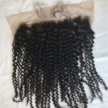 Peruvian Remy 13x6 Kinky Curly Lace Frontal Closure Hair (2)