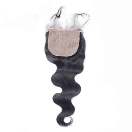 Peruvian Silk Base Closure Body Wave Remy Human Hair With Bleached Knot (2)