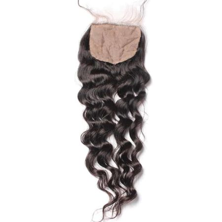 Peruvian Silk Base Closure Loose Wave 100% Human Hair With Baby Hair Hidden Knots (6)