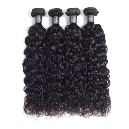 Peruvian Wet And Wavy Hair 3 Bundles With Lace Frontal Human Hair (6)