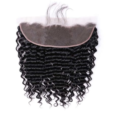 Pre Plucked 13x4 Peruvian Deep Wave Lace Frontal Closure Human Hair (5)