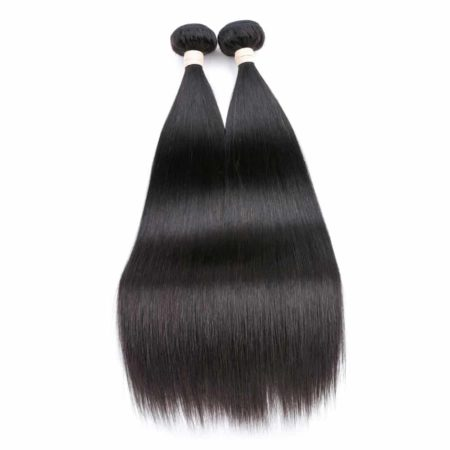 Straight Brazilian Human Hair 2 Bundles Hair Weave Natural Color (1)