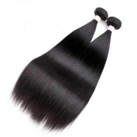 Straight Brazilian Human Hair 2 Bundles Hair Weave Natural Color (5)