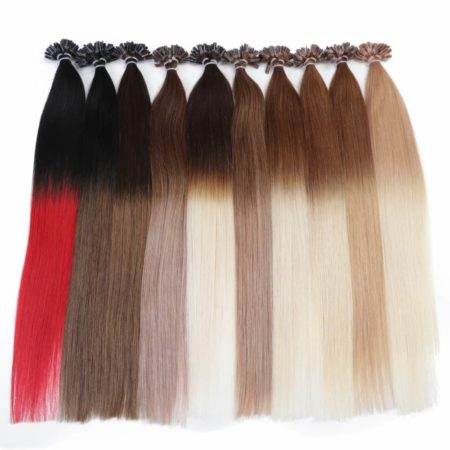 Straight Ombre Keratin Remy Nail U Tip Human Fusion Hair Extension (3)