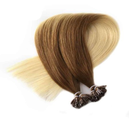 Straight Ombre Keratin Remy Nail U Tip Human Fusion Hair Extension (5)