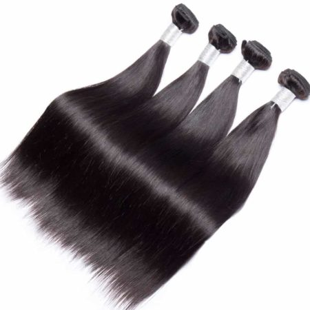 Straight Peruvian Hair Bundles Human Remy Hair With Lace Frontal (2)