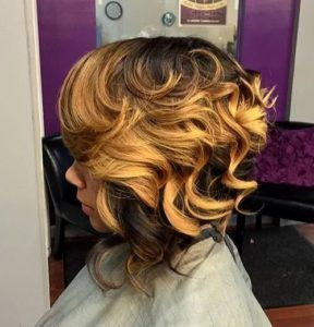 The two-toned curly bob
