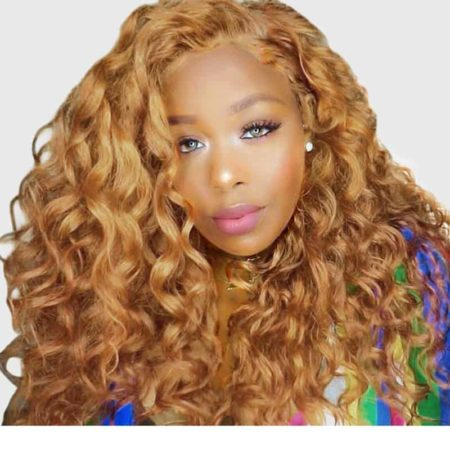 27# Brazilian Loose Wave Wig Blonde Lace Front Human Hair 250% Density (1)