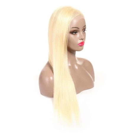 613 Blonde Brazilian 13x6 Straight Lace Front Human Hair Wigs 150% Density (4)