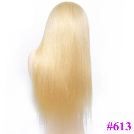613 Blonde Brazilian Straight Lace Front Human Hair Wigs (1)
