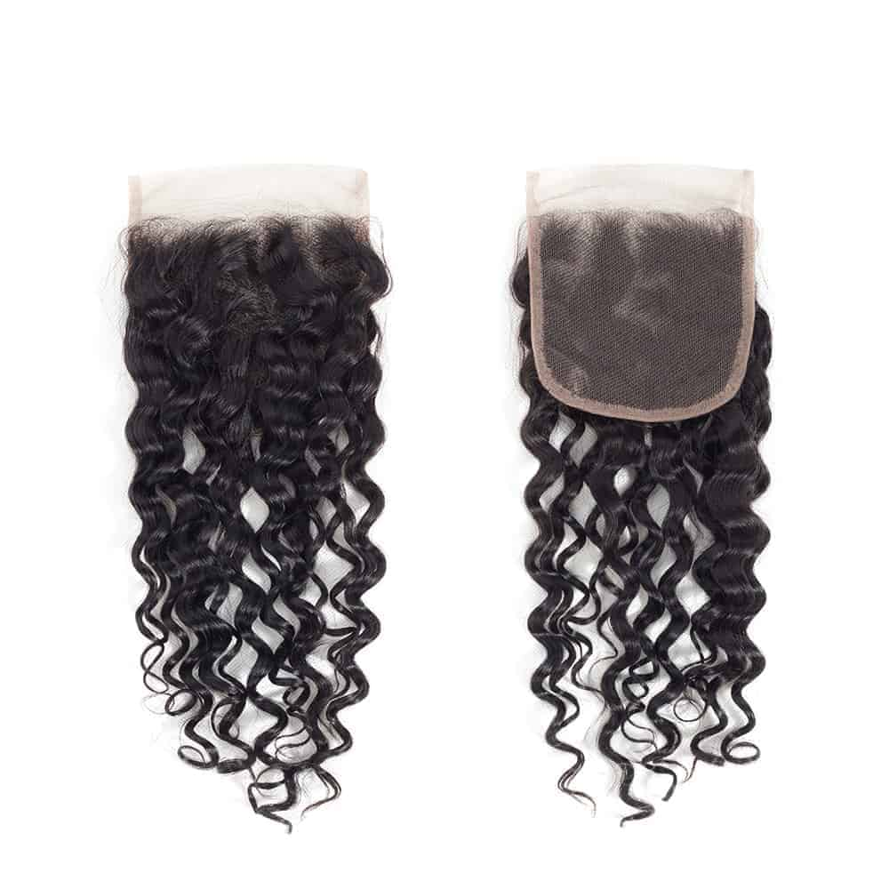 Brazilian Natural Wave 4x4 Closure With Human Baby Hair Bleached Knots (4)