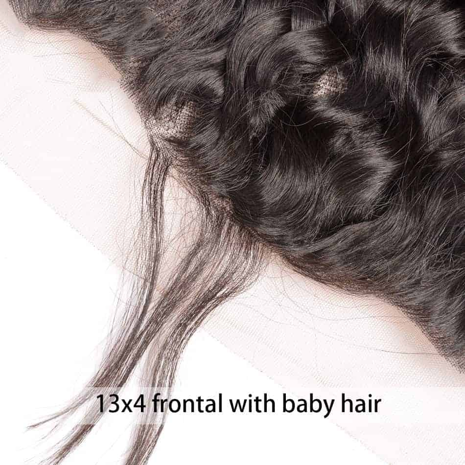 Brazilian Natural Wave Remy Human Hair 13X4 Lace Frontal Closure With Baby Hair (2)