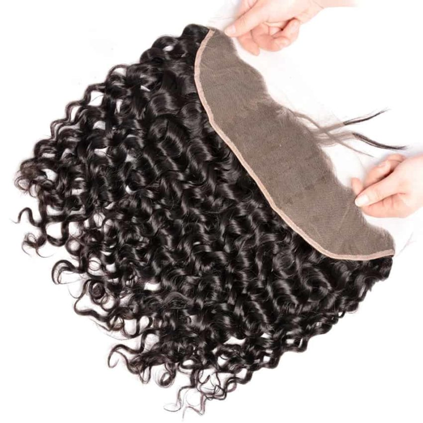 Brazilian Natural Wave Remy Human Hair 13X4 Lace Frontal Closure With Baby Hair (3)