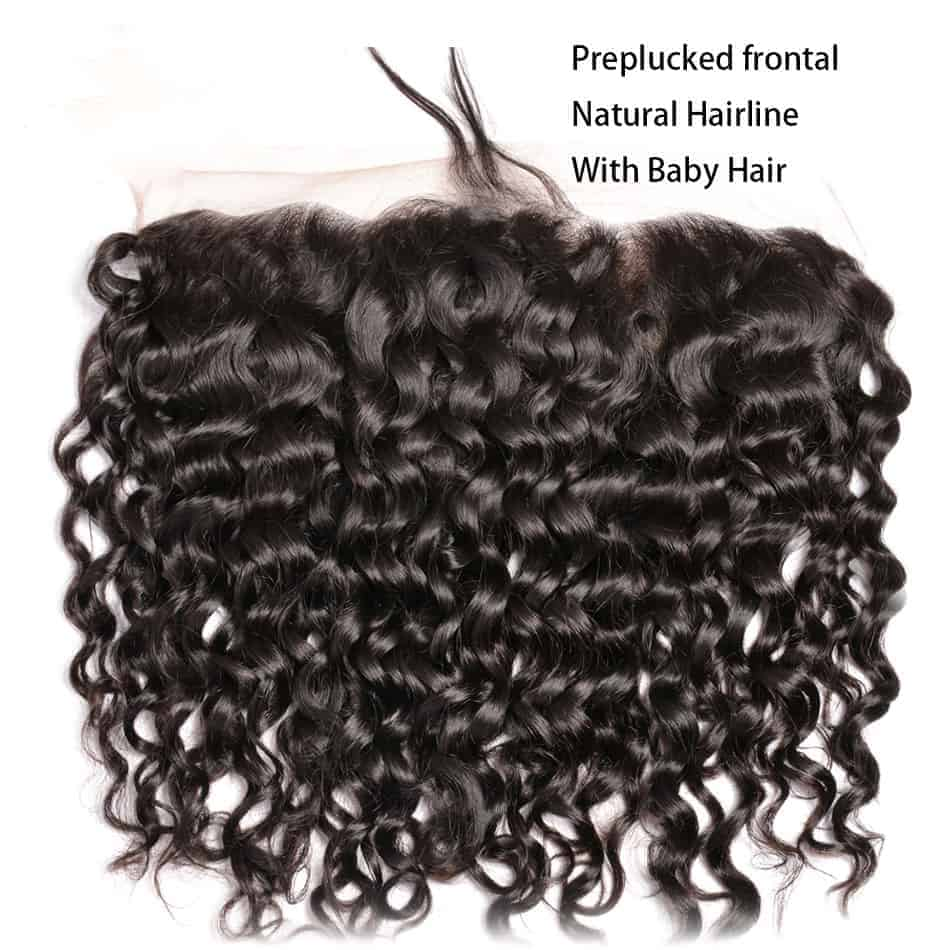 Brazilian Natural Wave Remy Human Hair 13X4 Lace Frontal Closure With Baby Hair (4)