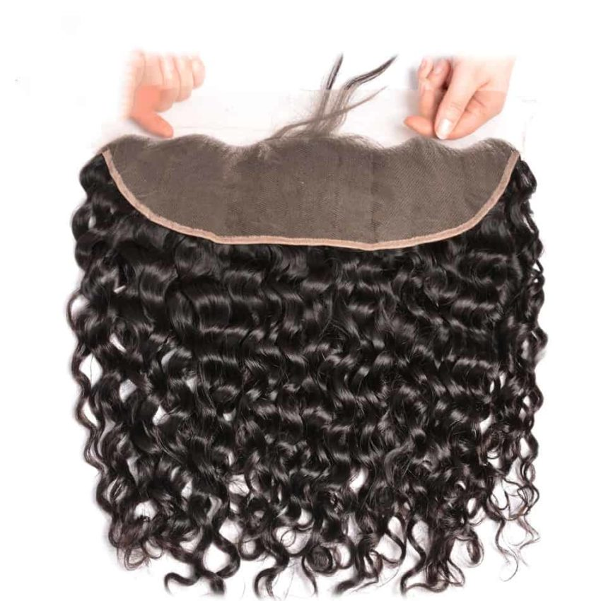 Brazilian Natural Wave Remy Human Hair 13X4 Lace Frontal Closure With Baby Hair (5)