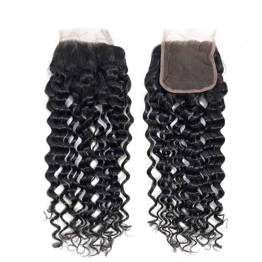 Brazilian Water Wave Human Hair Weave Bundles With Closure (5)