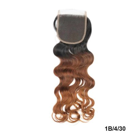 Ombre Brazilian Natural Wave Closure Human Hair 1B 4 30 Color Two-tone Lace Closure (2)