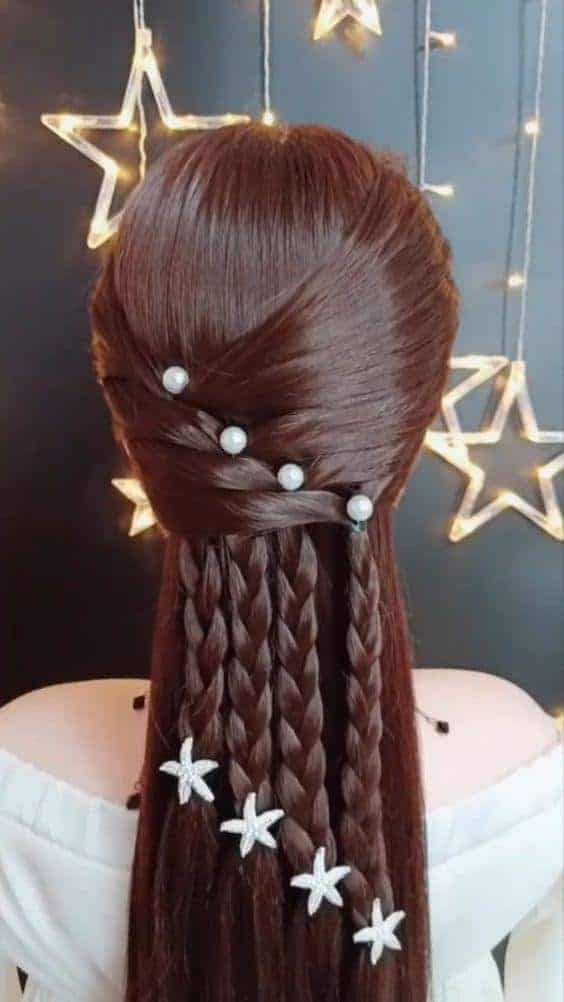 A braided style for kids