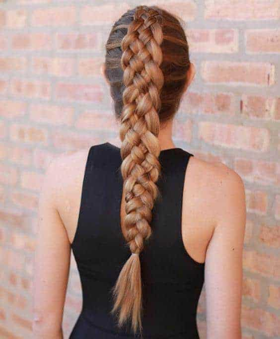 Four French braids