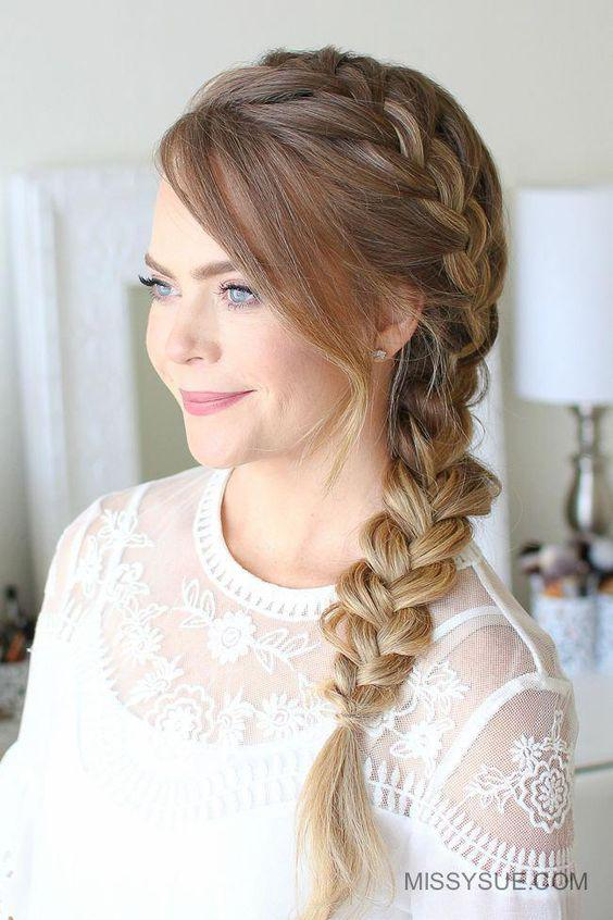 How to create a French-style side braid