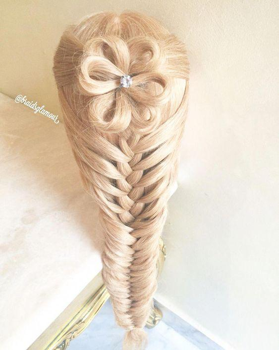 Long mermaid braid