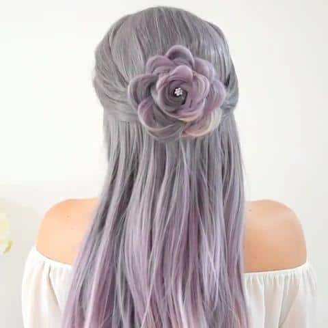 Rose braid style