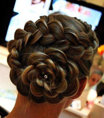 Rose flower braid