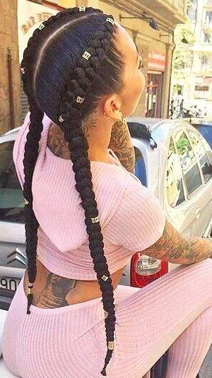 Two French boxer braids