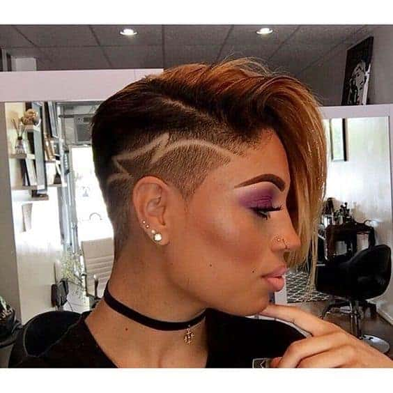Blonde weave with an undercut