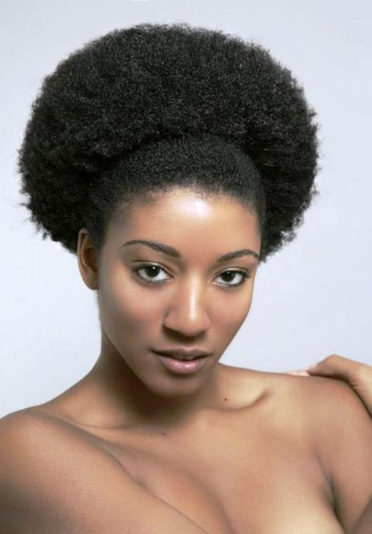 Classic and beautiful round afro