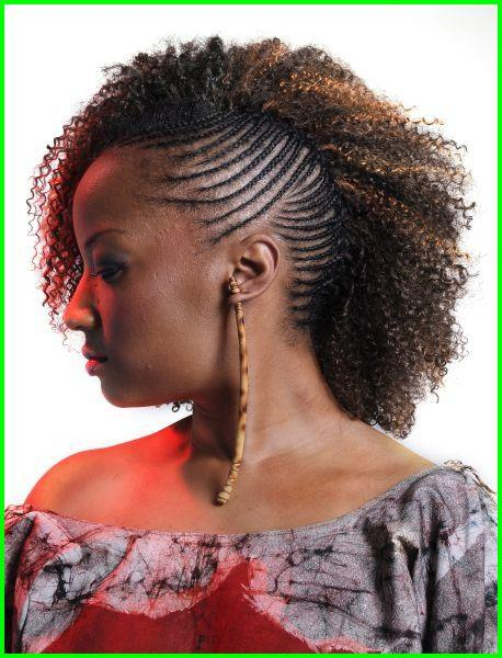 Side cornrow with weave