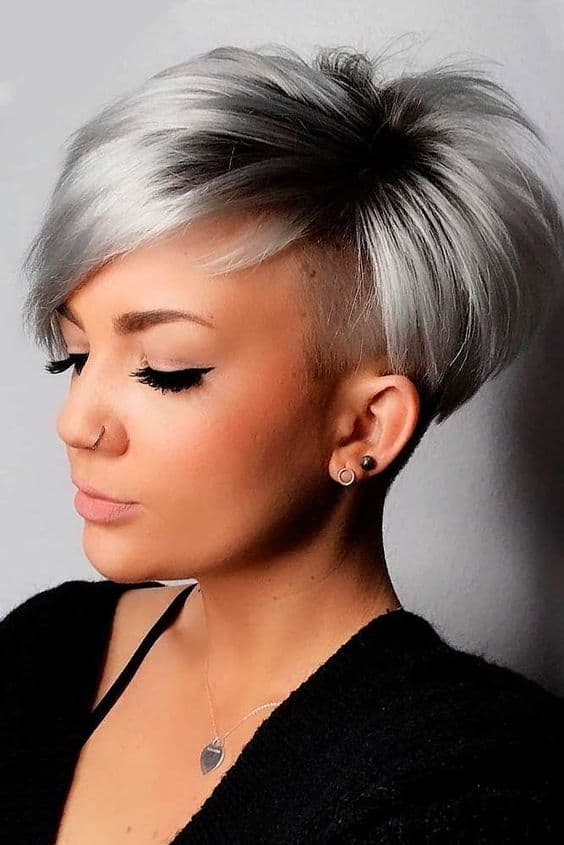 Grey weave hairstyle