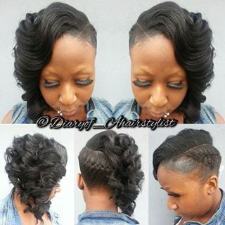 Inverted braid with vivacious curls