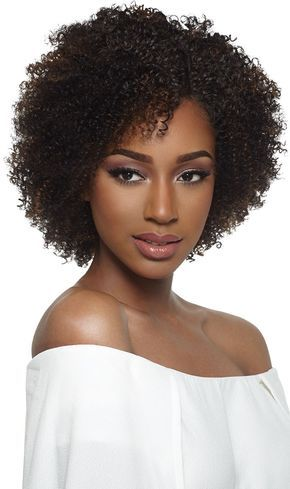 Kinky curly afro for long faces